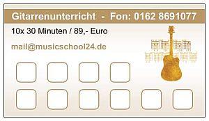 10er Karte Gitarrenunterricht
