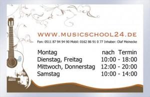 Öffnungszeiten musicschool 24
